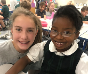 Students learning at the Franciscan School