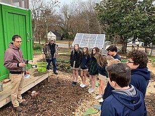 Trevor Thompson from the Peace and Justice Department at St. Francis accompanied the 8th grade on a field trip to South Park in Southeast Raleigh. The students learned about the underserved communities in our city, as well as their food garden. St. Francis is in partnership with this community.