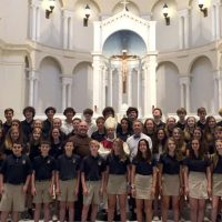 students at the Franciscan cathedral